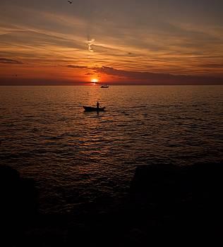 Sunset At Rovinj Croatia by Phil Child
