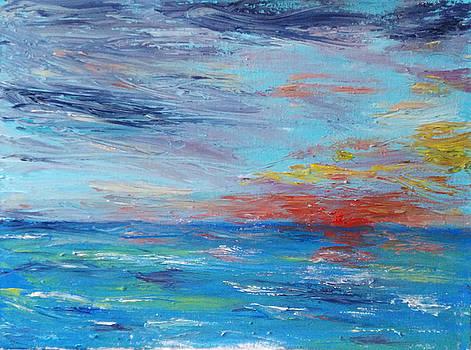 Sunset at Sea by Bernard Victor