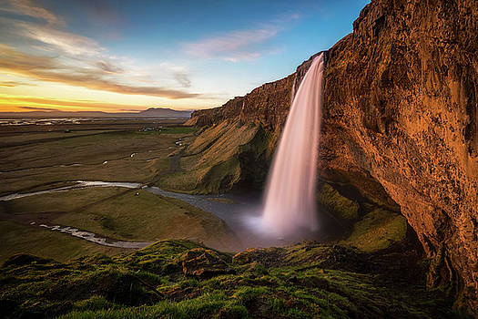 Sunset at Seljalandsfoss by James Udall