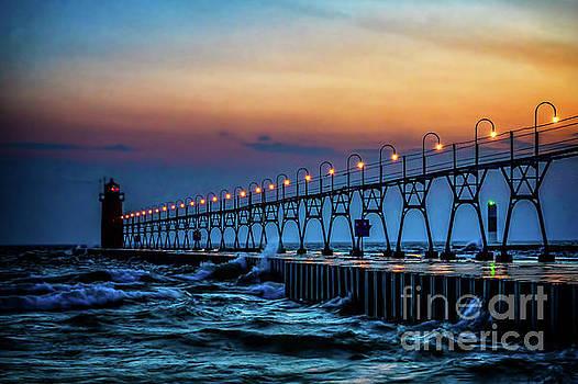 Sunset at South Haven Light by Nick Zelinsky