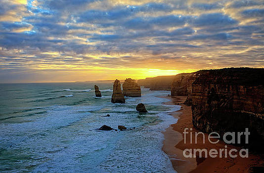 Franz Zarda - Sunset at the 12 Apostles