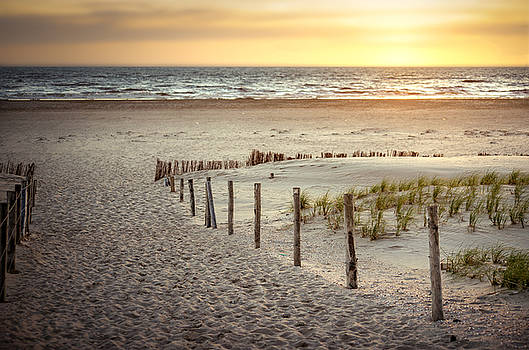 Sunset At The Beach by Hannes Cmarits