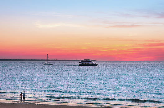 Sunset at the Beach in Darwing, Australia by Daniela Constantinescu
