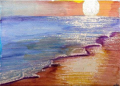 Sunset at the Beach by Mark Richard Luther