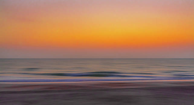Sunset at the Beach by Robert Mitchell