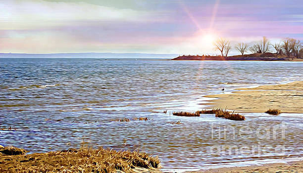 Sunset At The Beach - Tod's Point by Judy Palkimas