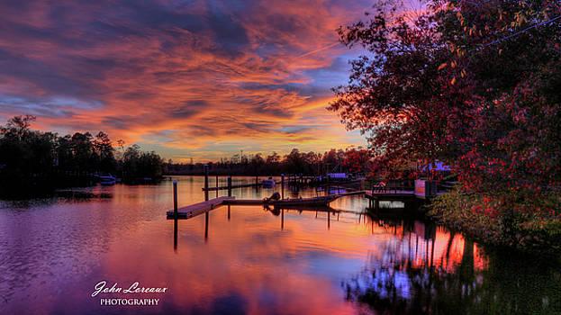 Sunset at the Bulkhead by John Loreaux