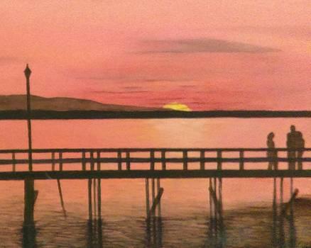 Ilona MONTEL - Sunset at The Crescent Beach Pier, B.C.