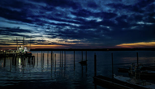 Sunset At The Dock by Ant Pruitt