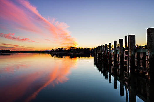 Sunset At The Dock by Ryan Moore