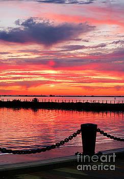 Sunset at the Docks by Debbie Parker