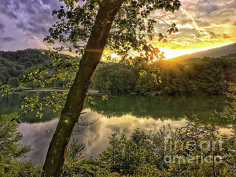Sunset At The Lake by Kerri Farley