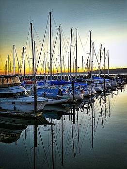Sunset at the Marina by Edward Coumou