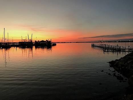 Sunset at the Marina by Leslie Brashear