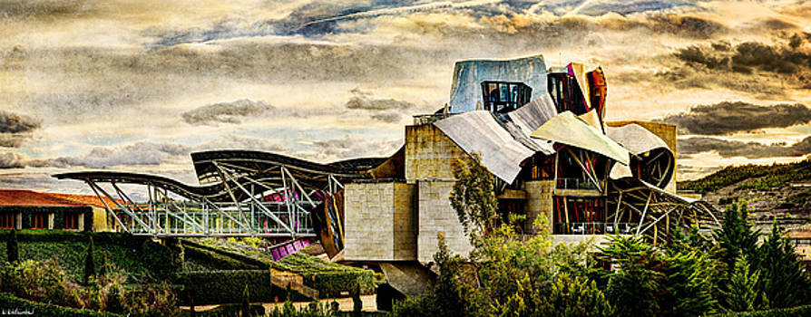 Weston Westmoreland - sunset at the marques de riscal Hotel - frank gehry - vintage version