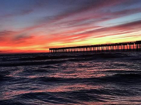 Sunset at the Pier by Leslie Brashear