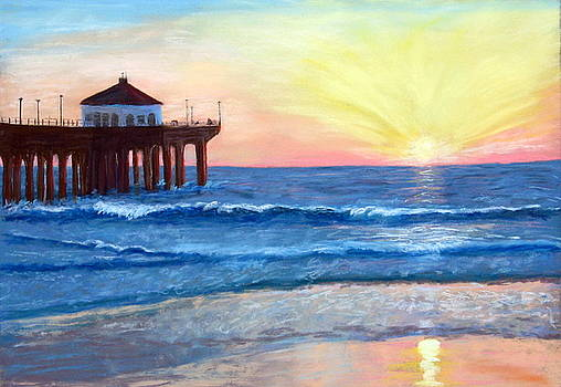 Sunset at the Pier by Trudy Morris