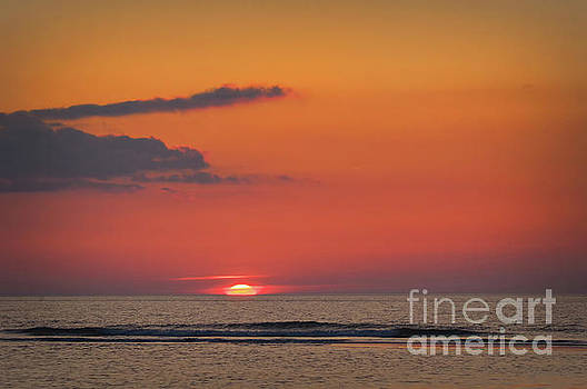 Sunset at the sea by Angela Doelling AD DESIGN Photo and PhotoArt