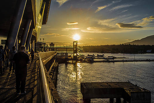 Ross G Strachan - Sunset at the Seaplane Terminal