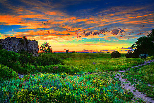 Sunset at the Wyoming Border by James O Thompson