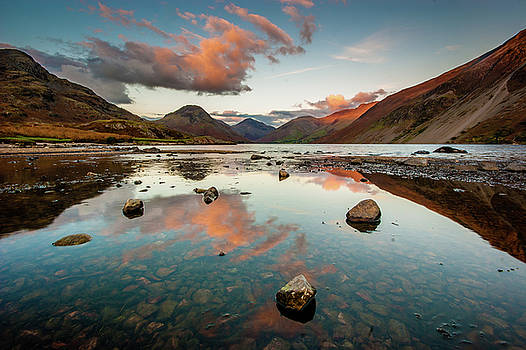 Sunset at Wast Water #1, Wasdale, Lake District, England by Anthony Lawlor