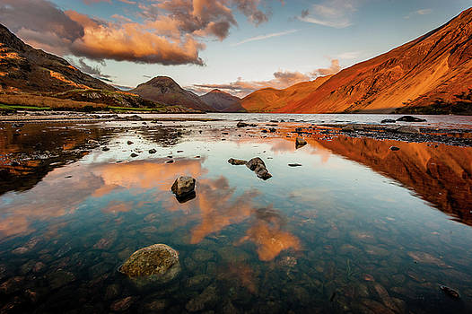 Sunset at Wast Water #2, Wasdale, Lake District, England by Anthony Lawlor
