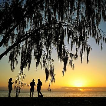 Sunset at West Point on Magnetic Island by Keiran Lusk