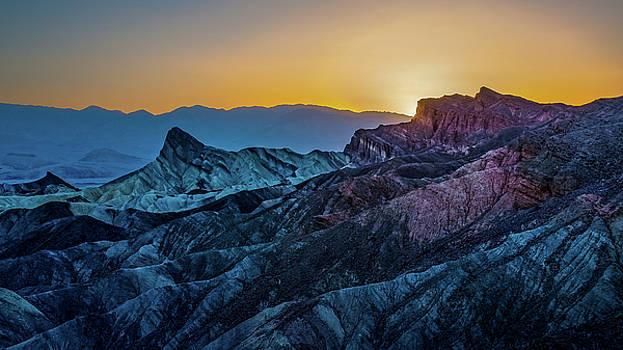 Sunset at Zabriskie Point, Nevada by Yves Keroack