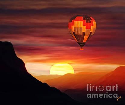 Sunset Balloon Ride by Zedi