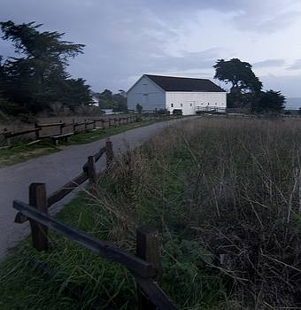 Sunset Barn by the  Pacific by Norman  Andrus