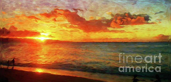 Sunset Beach by Jerome Stumphauzer