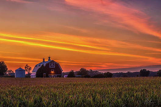 Sunset before the Harvest by J Thomas