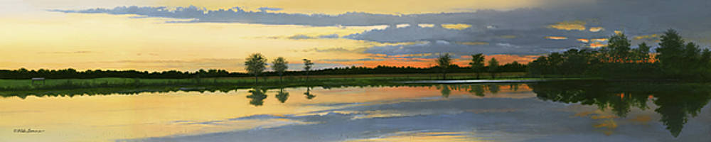 Sunset Ben Jack Pond by Mike Brown