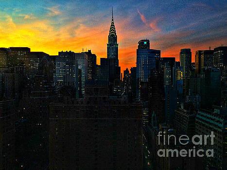 Sunset Blaze by Miriam Danar