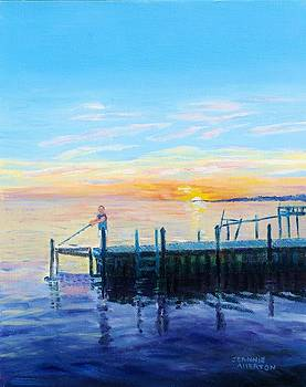 Sunset Bliss for Chris Fisherman by Jeannie Allerton