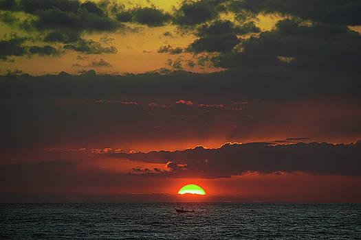 Sunset Boatman by Paki O'Meara