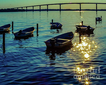 Sunset Boats by Trish Casey-Green