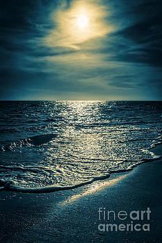 Sunset Bowman Beach Sanibel Florida by Edward Fielding
