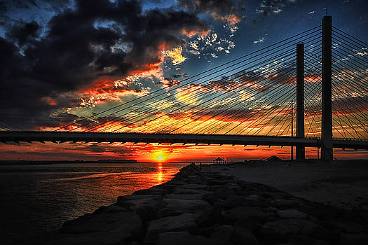 Bill Swartwout Fine Art Photography - Sunset Bridge at Indian River Inlet