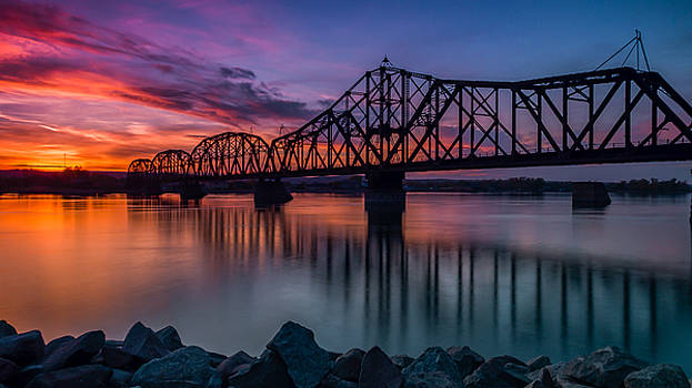 Sunset Bridge by Justin Schmidt