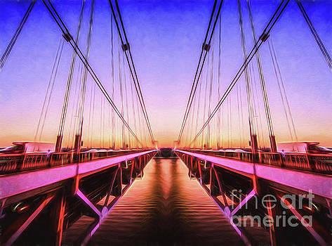 Sunset Bridge by Ray Warren