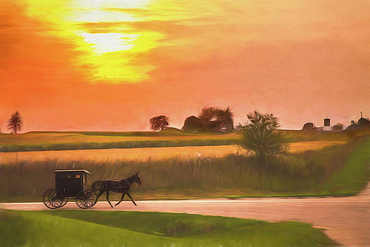 Sunset Buggy Ride by Joel Witmeyer