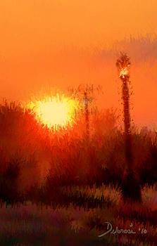 Sunset By Street Light by Deborah Rosier