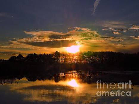 Sunset by the roadside by Rrrose Pix
