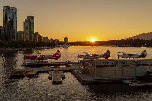 Ross G Strachan - Sunset by the Seaplanes