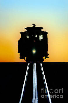 Sunset Cable Car Graphic by Wernher Krutein