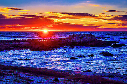 Sunset Carmel By The Sea by Garry Gay