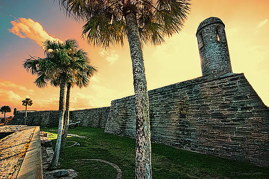 Sunset Castillo de San Marcos by Stacey Sather