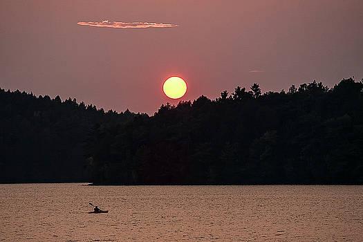 Sunset China Lake by Gary Shepard