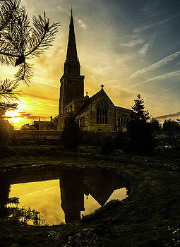 Sunset Church by Nick Bywater